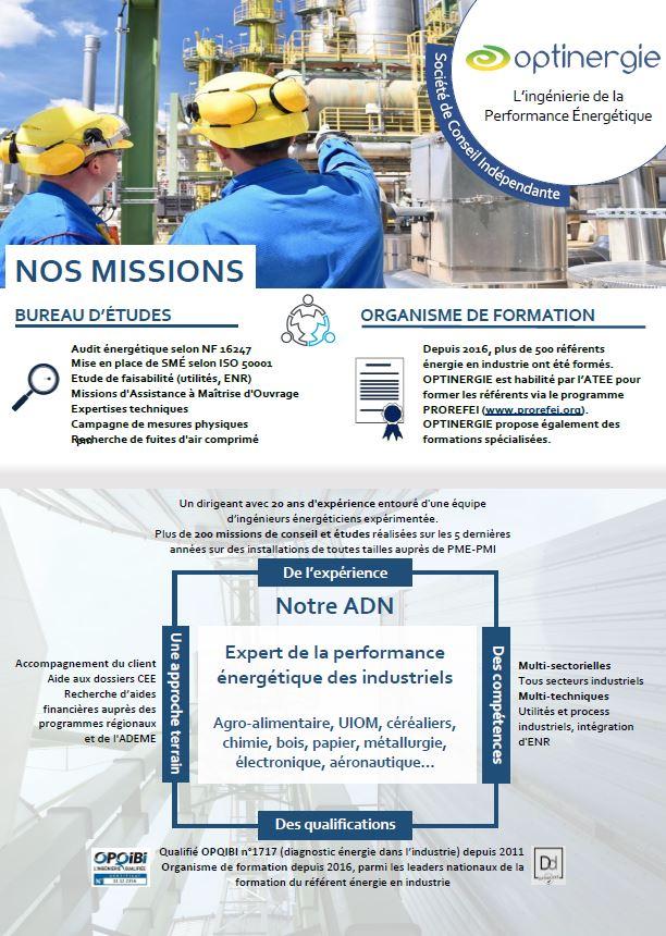 services OPTINERGIE bureau d'étude performance énergétique